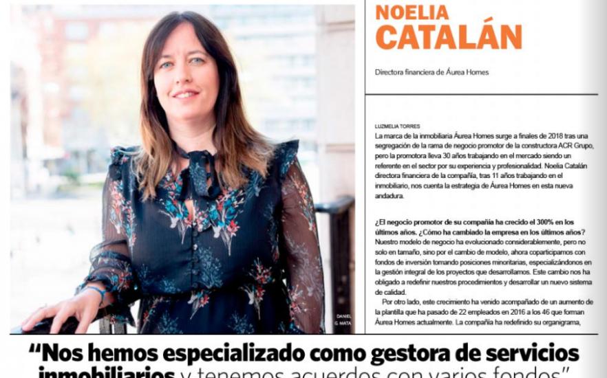 Noelia Catalán, primera mujer del sector en conceder una entrevista para elEconomista